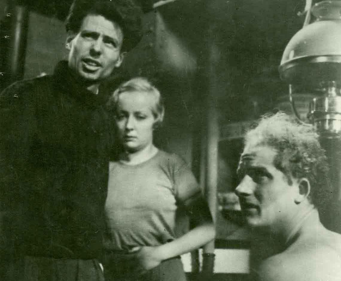 Žan Vigo, Dita Parlo i Žan Daste na snimanju filma Atalanta (1934)
