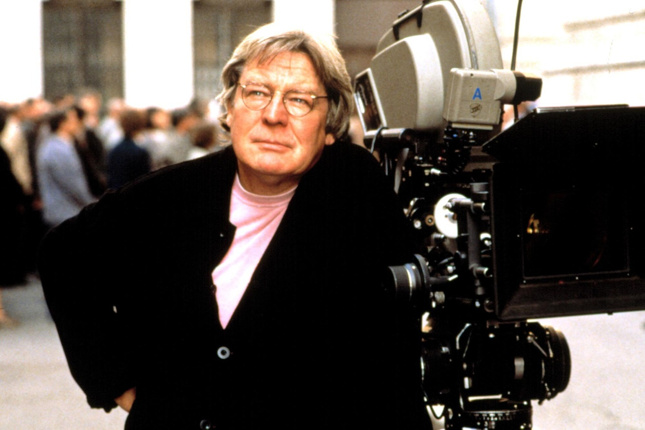 EVITA, director Alan Parker on set, 1996