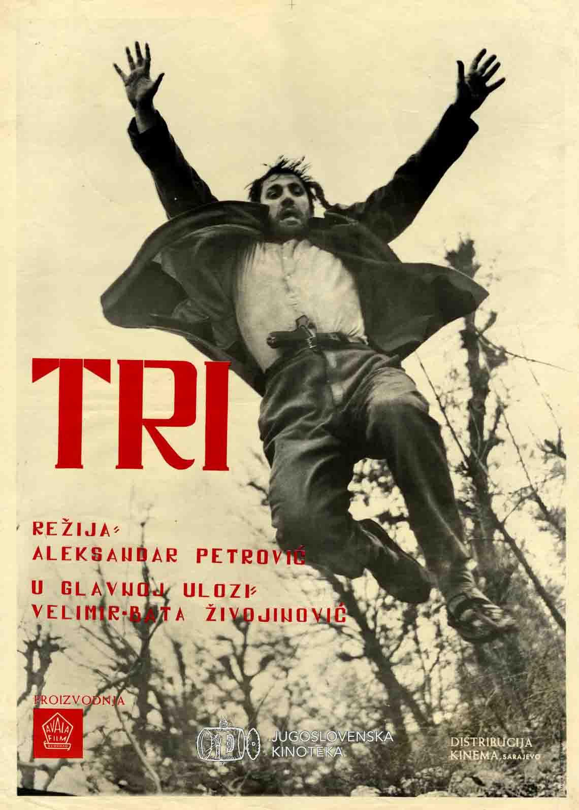 Tri (1965) – plakat – Jugoslovenska kinoteka